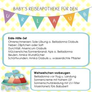 Checkliste Reiseapotheke für Babys
