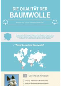 Infografik zur Herkunft von Baumwolle
