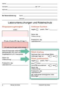 Den Mutterpass verstehen - Der Röteln-Antikörpertest
