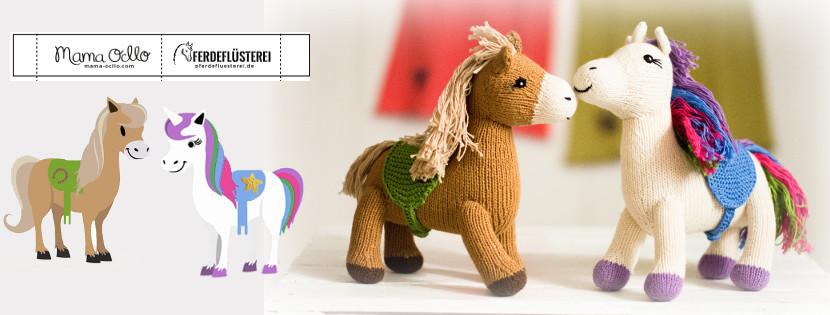 Kuscheltier Pferd und Einhorn aus Bio-Baumwolle_Chill n Feel_Pferdeflüsterei