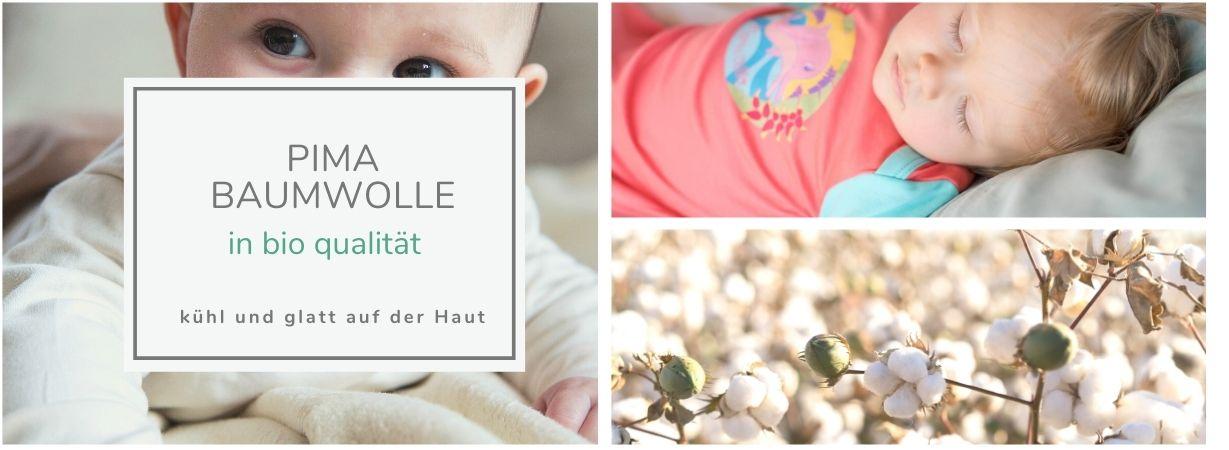 Babys tragen Kleidung aus Bio Pima Baumwolle