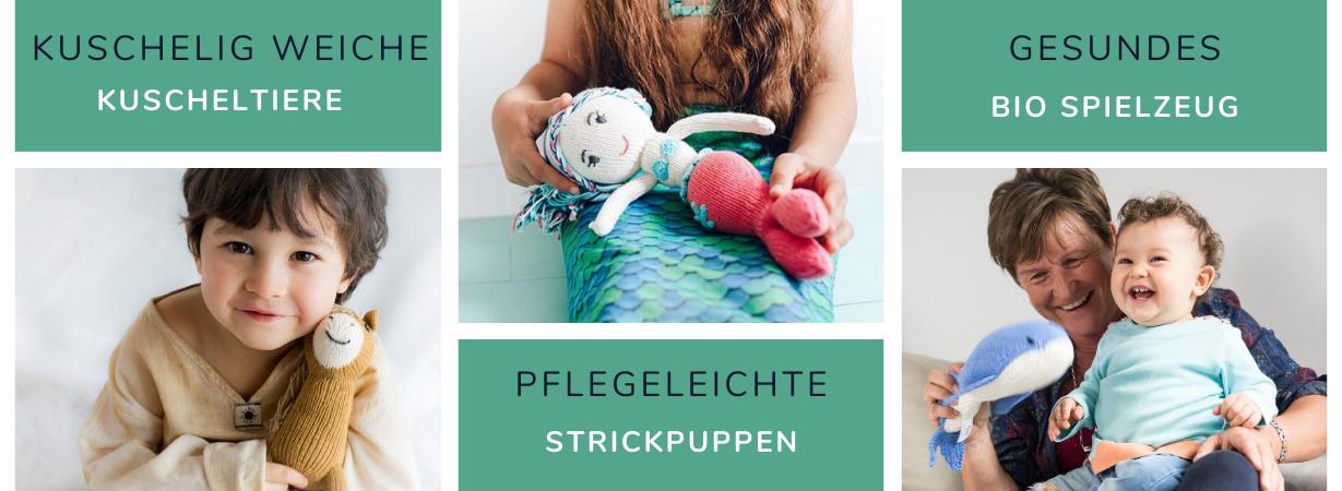 Kuscheltiere und Puppen aus Bio Tanguis Baumwolle