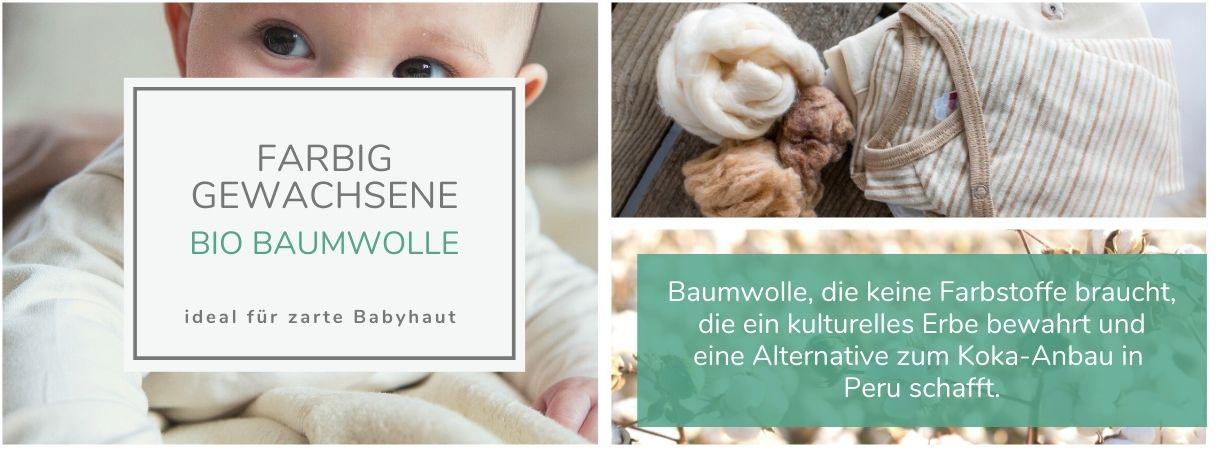 Farbig gewachsene Baumwolle für empfindliche Babyhaut