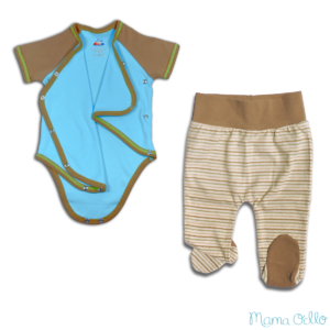 Mama Ocllo - Maritimes Outfit Sommerbaby Pima Baumwolle (1)