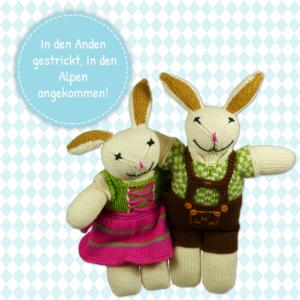 Kuscheltier-Hasen in bayerischer Tracht_Dirndl_vegane Lederhose