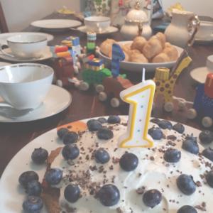 Bananen-Kuchen für den ersten Geburtstag