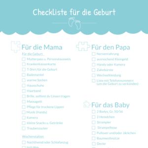 Kliniktasche packen: Geburt Checkliste für Mama, Papa und Baby