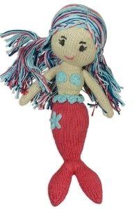 Die erste Puppe_Meerjungfrau aus Bio Baumwolle