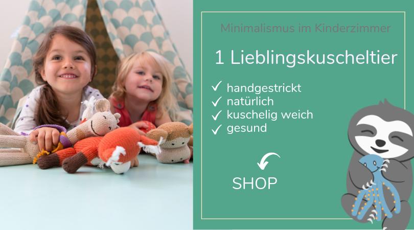 Minimalismus im Kinderzimmer_Spielzeug_Erstes Kuscheltier_ChillnFeel