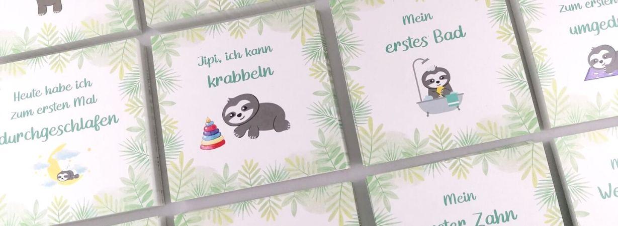 aby Meilensteinkarten für Faultier Freunde