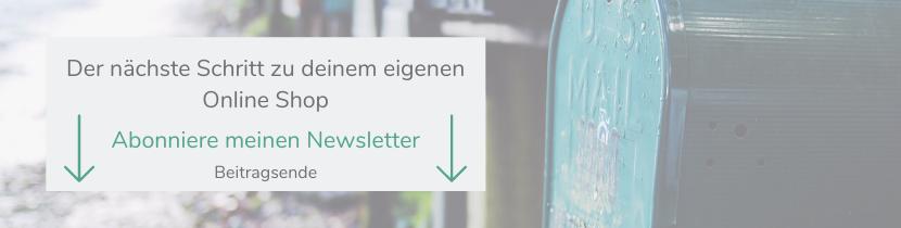 Selbstständig machen_Online Shop_Newsletter