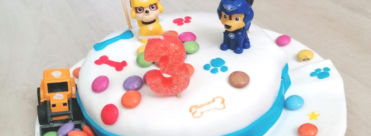 Paw Patrol Torte_Fondant Torte Kindergeburtstag